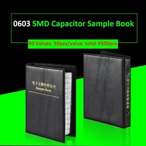 0603 Smd smt Capacitors Components Samples Book Capacitor Assorted Kit 90 Values