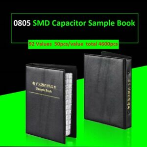 0805 Smd smt Capacitors Components Samples Book Capacitor Assorted Kit 92 Values