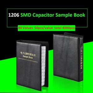 1206 Smd smt Components Samples Book Capacitor Assorted Kit 80 Values 4000pcs