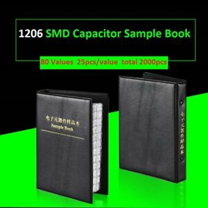 1206 Smd smt Capacitors Components Samples Book Capacitor Assorted Kit 80 Values
