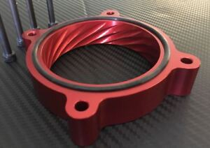 Throttle Body Spacer For 2011 To 2014 Ford Mustang Gt 5 0l Billet Aluminum Red