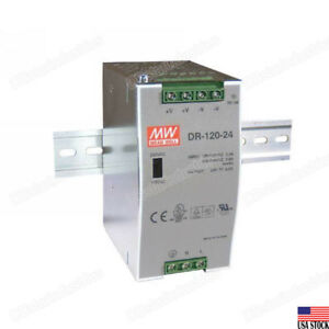 Mean Well Dr 120 24 120w Certified Led Din Rail Power Supply Ac dc 24v 5a Usa