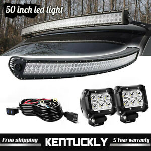 1999 2006 Chevrolet Silverado 1500 2500 50 Curved Led Light Bar Mount Combo Kit