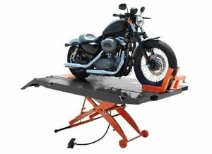 Titan 1 000 Lbs Xlt Motorcycle Lift With Front Wheel Vise And Side Extensions