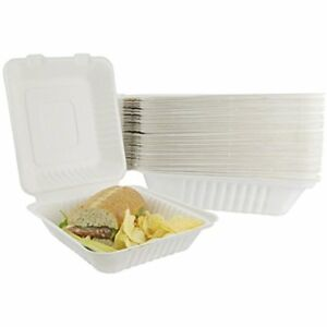 Takeout Containers To Go Box Restaurant Out Food Container 100 Pack White