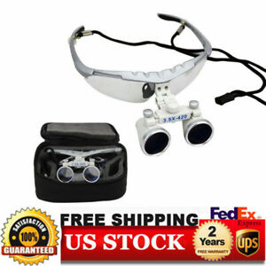 Dental Binocular Loupes 3 5x420mm Magnifier Loupes With Protective Case