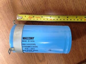 Mallory Capacitor 110 000mfd 25v Dc 110000uf