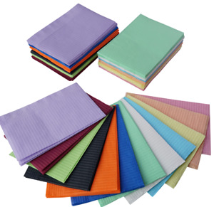 3 Ply 13x18 Dental Patient Bibs Tattoo Towels Sheets Choose Color qty made Eur