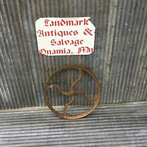 Vintage 19 3 4 Inch Cast Iron Pulley Wheel Steampunk Lamp Base