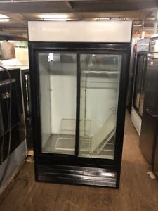 Beverage Air Mt38 Used 2 Door Commercial Glass Refrigerator Cooler
