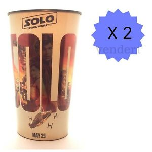 New (2) Solo A Star Wars Story & Coca-Cola 44-ounce Movie Theater Cups