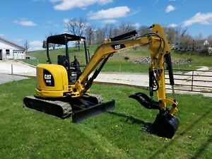 2013 Cat 303 5e Cr Diesel Hydraulic Mini Excavator Blade With Cat Hydro Thumb