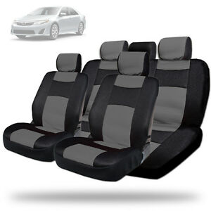 New Elegant Design Mesh And Synthetic Leather Car Seat Covers Bg For Toyota