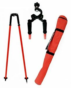 Adirpro Prism Pole Bipod Red Tripods Grade Rods Levels Surveying Equipment