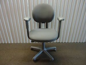 Criterion Ergonomic Office Desk Chair Fully Adjustable Gray Fabric By Steelcase
