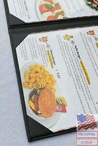 Menu Covers Holders Double View W Clear Pvc Sheets Paper Protection 8 5 X 11