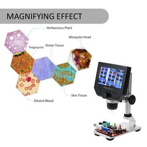 G600 Portable Lcd 1 600x 3 6mp Microscope Magnifier Usb Charging Tool Us Stock