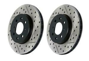 Stoptech Slotted Drilled Rear Brake Rotors For 08 14 Subaru Wrx