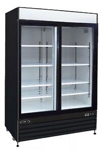 Kool it Ksm 42 42cf 2 Door Commercial Glass Beer Soda Cooler Refrigerator New