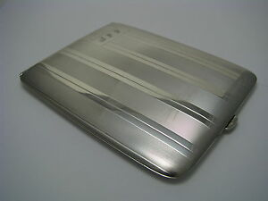 Elgin Sterling Silver Cigarette Case Box By Elgin American Ca1940s Excel Cond