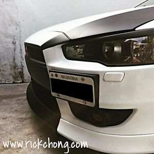 2008 To 2015 Mitsubishi Lancer Gts Front Bumper Center Lip Painted Matte Black