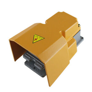 Stock Industrial Aluminum Cast Heavy Duty Foot Switch Pedal Guard 10a250vac Spdt