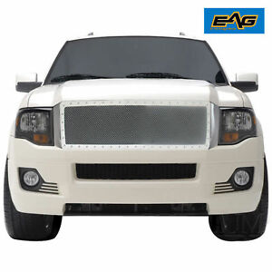 Eag 07 14 Ford Expedition Grille Rivet Chrome Stainless Steel Wire Mesh Grille