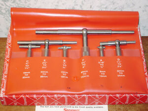 6 Pc Starrett Telescope Gage Set No S579h Lot01