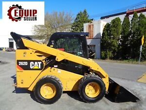 2015 Caterpillar 262d Wheel Skid Steer Loader Enclosed Cab Only 404 Hours
