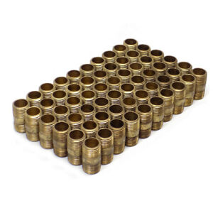 lot Of 60 New Industrial Threaded Products 1 2 X 1 1 2 Brass Pipe Nipples