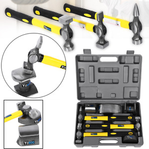 7pcs Set Car Auto Body Panel Repair Hammers Tools Kit With Handles Case
