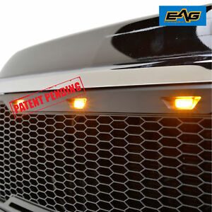 11 14 Chevy Silverado 2500 3500 Grille Grill Black Abs Packaged W Led Light