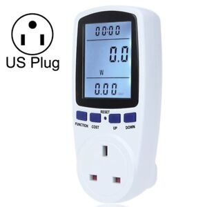 Ac 120v 60hz Max 15a Lcd Display Power Meter Energy Watt Amps Volt Electricity