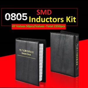 0805 Smd smt 5 Components Samples Book Inductors Assorted Kit 47 Values