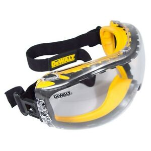 Dewalt Safety Goggles Eye Anti Fog Glasses Concealer Protective Over Clear Lens