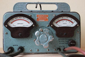 Working Sun Model y 18344 D C Early 1950s Battery Starter Tester Layaway Ok