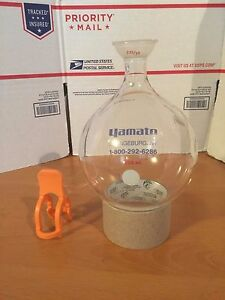 Yamato 35 25 Spherical Joint Round Bottom Flask 1000ml New