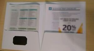 50 Film Laminated Presentation Folders With Business Card Slot