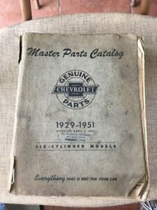 Vintage 1929 1951 Chevrolet Master Parts And Accessories Catalog Book Truck