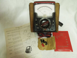 Vintage Triplett 630 na Volt Ohm Milliammeter Multimeter Analog Test Equipment