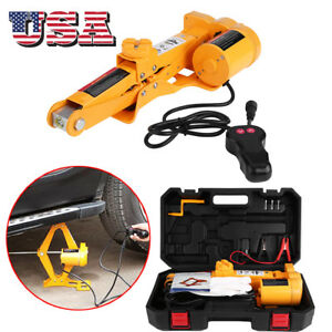 12v 2ton Automotive Electric Scissor Car Jack Lifting Impact Wrench Tools Kit