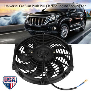 12 Electric Radiator Cooling Slim Fans 800cfm Push Pull Engine Kit Truck Us