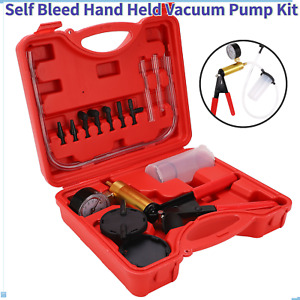 Hand Vacuum Pressure Pump Tester Kit Brake Fluid Gauge Set Repair Test Tools Us