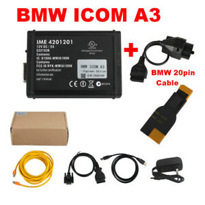 Bmw Icom A3 Professional Diagnostic Tool Hardware V1 38 Free Bmw 20pin Cable