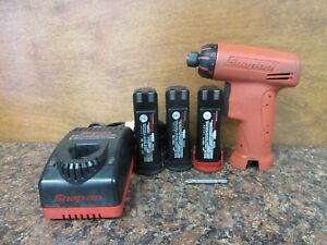Snap on Cts561clo Cordless Screwdriver 3 Batteries Charger b4