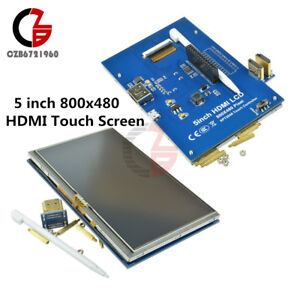 5 Inch 800x480 Hdmi Touch Screen Lcd Display For Raspberry Pi Pi2 Model B A