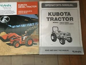 Kubota L3010 L3410 L4310 L4610 Operators Manual La482 La682 Loader And Brochure