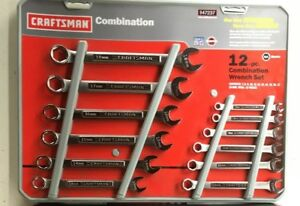 Nos Craftsman usa Made 12 Pc 6 Point Combination Wrench Set 47237