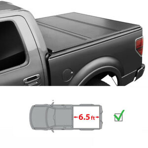 For 94 01 Dodge Ram 6 5ft 78in Bed Lock Tri Fold Hard Solid Tonneau Cover