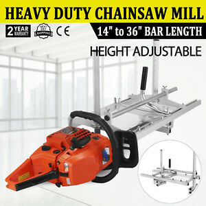 Portable Chainsaw Mill Log Planking Milling Bar Size 14 To 36 Lumber Cutting
